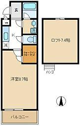 フジパレスしんしゅう[2階]の間取り