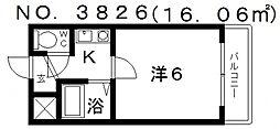 カルム四天王寺[8階]の間取り