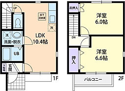 SK House B[105号室]の間取り