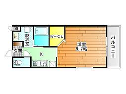 センターフィールド5[2階]の間取り