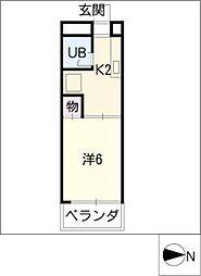 レジダンス四ッ葉[5階]の間取り