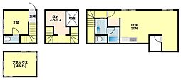 [タウンハウス] 愛知県岡崎市明大寺町字大圦 の賃貸【愛知県 / 岡崎市】の間取り
