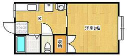 ビューバレーパピヨン[2階]の間取り