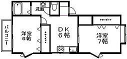 新潟県新潟市中央区天神尾2丁目の賃貸アパートの間取り