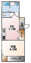 (仮称)D-room甲子園浦風[1階]の間取り