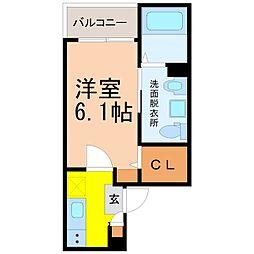 愛知県名古屋市南区柵下町2丁目の賃貸アパートの間取り
