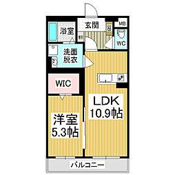 (仮)広丘駅西口ブレインマンション[3階]の間取り