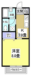 CASA YAMASHINA[1階]の間取り