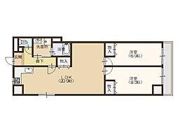 コーポザコバ[3階]の間取り