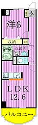 千葉県柏市しいの木台4の賃貸マンションの間取り