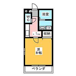 レーベルハイムA[2階]の間取り