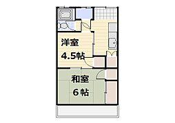 コーポ新井[203号室]の間取り