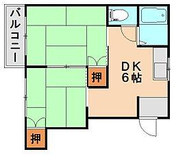 カルテットコーポ[2階]の間取り