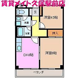 リンピア桜橋[3階]の間取り