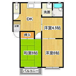 コーポ秋田C[2階]の間取り