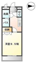 メルヴェーユ 宮崎[208号室]の間取り