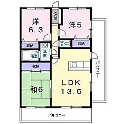 コンフォールマンション[3階]の間取り