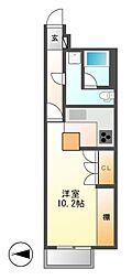 ドゥーエ大須(旧メゾン・ド・ヴィレ大須)[8階]の間取り