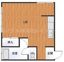 香川県高松市中新町の賃貸マンションの間取り