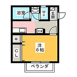 Surplusニワコーポ[2階]の間取り