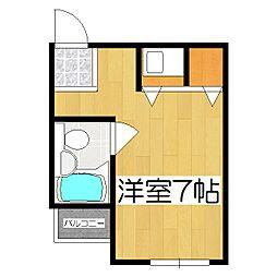 マンションチトセ[203号室]の間取り