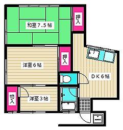 入夏荘[201号室]の間取り