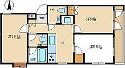 東京都三鷹市下連雀7丁目の賃貸マンションの間取り