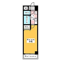 A・City朝日町[4階]の間取り