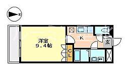 イーストヒルズ[2階]の間取り