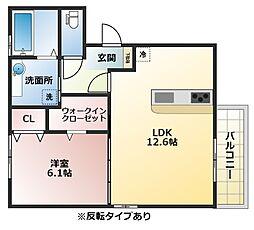 (仮称)D-room恩智中町[2階]の間取り