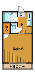 東京都国分寺市本町の賃貸アパートの間取り