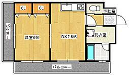 ライオンズマンション日吉町[4階]の間取り