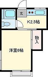 コーポ大志[203号室]の間取り