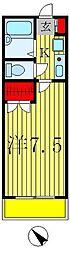 新葉ラピス第3ビル[6階]の間取り