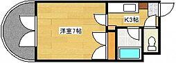 エステート上天満[5階]の間取り