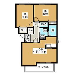 クレールドリュンヌ[3階]の間取り