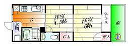 千里丘マンション[1階]の間取り