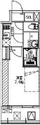 サムティ福島Rufle 3階1Kの間取り