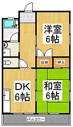 綱島マンション[3階]の間取り