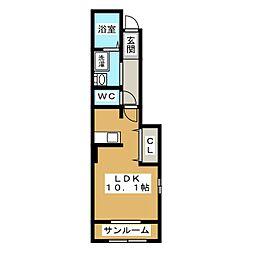 グランデュース[1階]の間取り