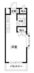 神奈川県大和市中央林間6丁目の賃貸アパートの間取り