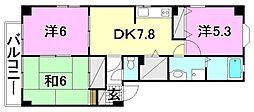 フォブール北斎院[302 号室号室]の間取り