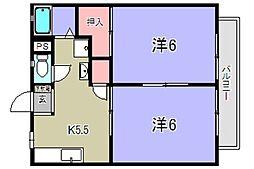ハイツI&U[2階]の間取り