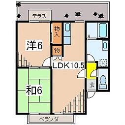 スバル飯泉[102号室号室]の間取り