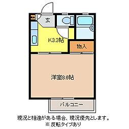 長野県長野市吉田4丁目の賃貸アパートの間取り