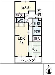 エクセル築地[1階]の間取り