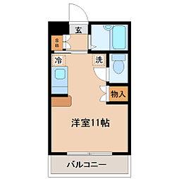 宮城県仙台市若林区東八番丁の賃貸マンションの間取り