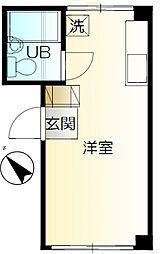 神奈川県横浜市中区麦田町3丁目の賃貸マンションの間取り
