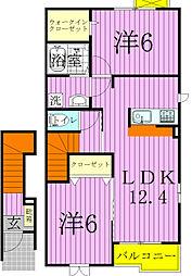 エテルノ ピアッツァC[2階]の間取り