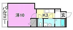 リバレインウッド[105 号室号室]の間取り